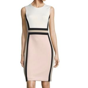 Calvin Klein sleeveless color-block dress